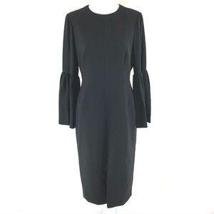 Jill Stuart Sheath Dress Bell Sleeve Front Slit 4